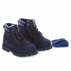 Armani Junior Boys Blue Boot With Fleece Lining at Childrensalon.com