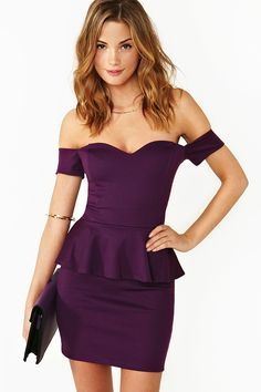 Elle Peplum Dress - LOVE!
