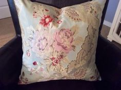 SILKY FRENCH STYLE LAMPAS; SCALAMANDRE ADELAIDE SILK Back Custom Made Pillow in Collectibles | eBay