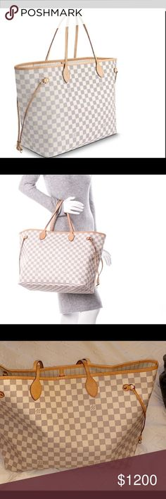 Louis Vuitton neverfull GM azure with duster   box Never used Louis Vuitton  GM Neverfull Azure 51674f3b4f35d