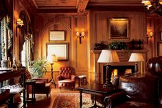 British Smoking Room | Tassels Twigs and Tastebuds: Newbie Reunion Party and Rooms to View!