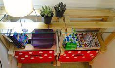 10 maneiras de organizar a casa usando caixotes de feira - Casinha Arrumada