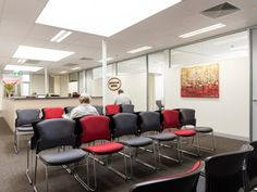 Melbourne Eastern Healthcare Village waiting area. Waiting Area, Office Interiors, Melbourne, Conference Room, Table, Projects, Furniture, Design, Home Decor