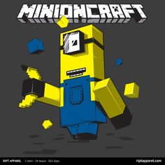 Minioncraft T-Shirt - $10 Minecraft Despicable Me mashup tee at RIPT today only!