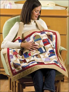 Quilting - Scraps Squared Nursing Cover - #EQ00232
