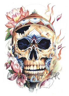 Tibetan Skull Print also a cool tattoo...g