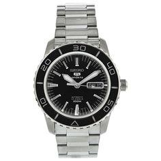 Seiko 5 Black Dial Automatic Men's Watch SNZH55