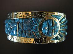 Wes Willie 18k Lone Mtn Bracelet Detail