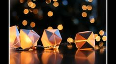 Origami shades on normal string lights