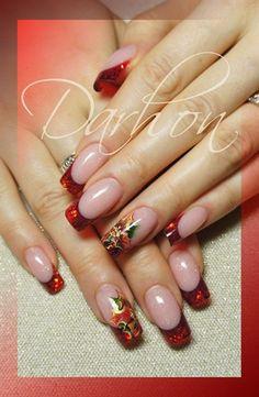 christmas french - Nail Art Gallery nailartgallery.nailsmag.com by www.nailsmag.com