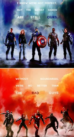Team Cap and Team Iron Man: Civil War