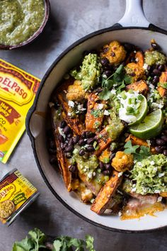 Nacho-Style Sweet Potato Wedges with Black Beans and Green Chile Salsa