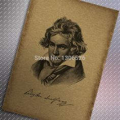 Cheap paper fan, Buy Quality paper pennant directly from China paper paper Suppliers: classic diy musician Beethoven vintage poster wall decals canvas art home decoration kids wall sticker papel de parede