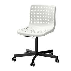 SKÅLBERG / SPORREN Swivel chair, white, black - white/black