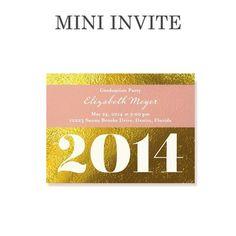 Delicate Wrapping - #Graduation Invitations - Umbrella - Taffy Pink. Mini party invite! #grad