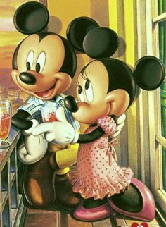 Mickey & Minnie enjoying a lovely evening in Paris