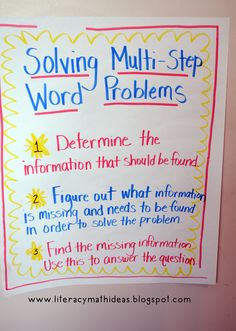 3 strategies to conquer math word problems math word problems literacy math ideas how to solve multi step word problems ccuart Gallery