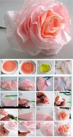 Bella storia how to dye coffee filters the easy way party themes taking a coffee filter and making a nice rose can really be really beautiful mightylinksfo