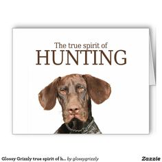 Glossy Grizzly true spirit of hunting Large Greeting Card