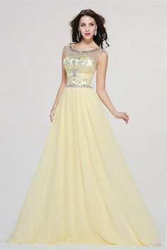 A Line Scoop Cap Sleeve Crystal Beaded Yellow Chiffon Prom Evening Dress Red Lace Prom Dress, Backless Prom Dresses, Prom Dresses Online, Cheap Prom Dresses, Perfect Prom Dress, Beautiful Prom Dresses, Winter Prom Dresses, Evening Dresses, Buy Dress