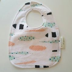Trendy Baby Bib - Toddler Drool Bib - White Feather - pinned by pin4etsy.com