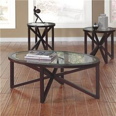 Sleffine - Occasional Table Set (Set of by Signature Design by Ashley. Get your Sleffine - Occasional Table Set (Set of at New Age Chicago Furniture Co. 3 Piece Coffee Table Set, Coffee And End Tables, End Table Sets, Coffee Table Design, Occasional Tables, Chicago Furniture, Nebraska Furniture Mart, Table Settings, Dark Brown