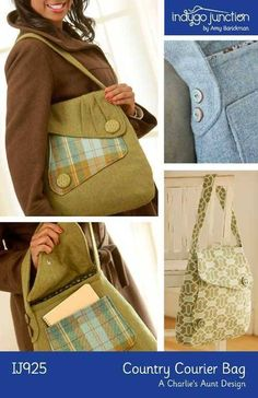 Inspired by the simple elegance of 1940's fashions but with a modern twist, this pattern for a practical shoulder bag offers a choice of straps and a pleat