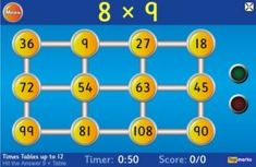 Hit the Button Hit the Button is an interactive maths game with quick fire questions on number bonds, times tables, doubling and halving, multiples, Place Value Games, Game Place, Doubling And Halving, Math Tables, Hit The Button, Framed Words, Math Graphic Organizers, Number Bonds, Times Tables