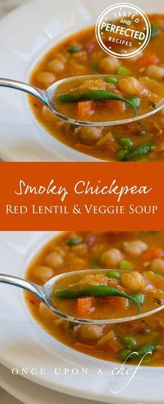 Smoky Chickpea, Red Lentil & Vegetable Soup
