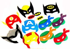 máscara eva hulk super heróis 30 pçs
