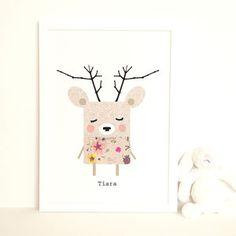 Deer Art Print 'Tiara' - posters & prints for children