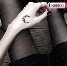 Mond tattoo,temporäre Tattoo