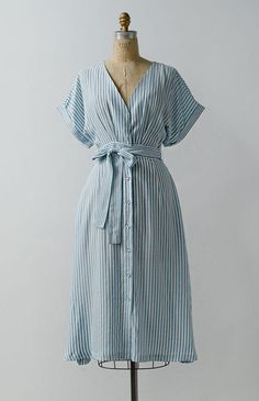 Vintage Inspired Dresses / Feminine Vintage Inspired Dresses / Stream and Sky Dress