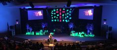 Glowing Presence by Victory Highway Wesleyan Chuch in Painted Post, NY  Church Stage Design Ideas