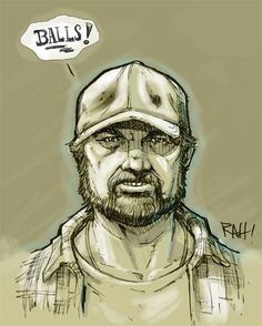 Supernatural - Bobby Singer by on DeviantArt Bobby Singer Supernatural, Supernatural Fan Art, Castiel, Crowley, Gravity Falls, Art Projects, Project Ideas, Doctor Who, Joker