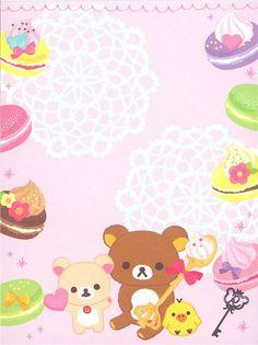 Rilakkuma bear mini Memo Pad sweets & macaroon 3