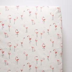 flamingo fitted crib sheet – madly wish