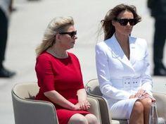 Sarah Netanyahu Tells Melania Trump of Common Bond: 'Media Hate Us but the People Love Us' Malania Trump, Trump One, Trump Train, Donald And Melania Trump, First Lady Melania Trump, Donald Trump, Breitbart News, Sarah Palin, Famous Women