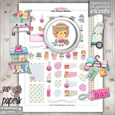 Shopping Stickers - Planner stickers for your Erin Condren vertical planner, Filofax, KikkiK, any da