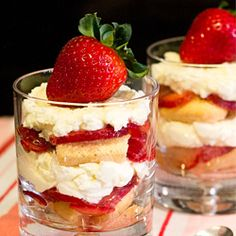 Strawberry Shortcake with Ladyfingers and Mascarpone for Mother's Day