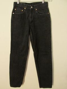 84c1ba95d07f8a F2529 Levi s 550 Relaxed High Grade Black Jeans Men s 31x34