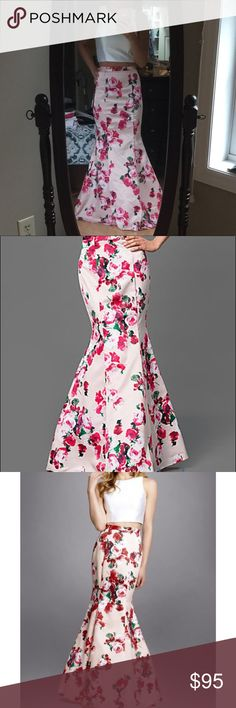 2pc floral mermaid gown Excellent like new condition, wore once for a few hours and got SO many compliments! It's stunning!! Xscape Dresses