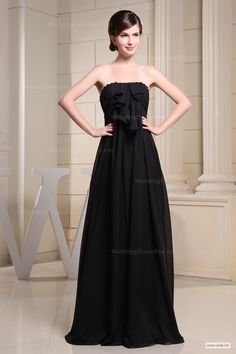 outdoor bridesmaid dresses Noble strapless chiffon gown with appliques decorated $143.98