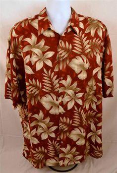 Croft & Barrows Men's Size XLT Short Sleeve Casual Island Wear 100% Rayon Shirt