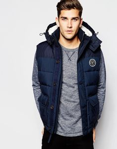 Abercrombie+&+Fitch+Gilet+with+Borg+Lined+Hood