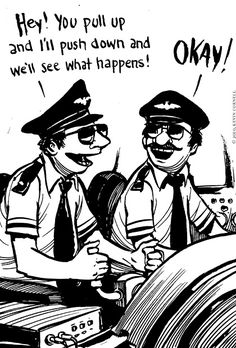 Driving instructors dual pedals let the one NOT behind the wheel take control ! So maybe the copilot being the one whose NOT flying the plane, is the one who's stick overrides the pilot ? So who's the pilot and who's the copilot then, then ? Aviation Quotes, Aviation Humor, Plane Memes, Airline Humor, Pilot Wife, Aviation World, Airline Pilot, Military Memes, Driving Instructor