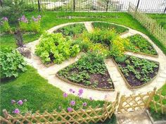 DIY vegetable, herb and flower garden design ideas in 76 amazing images - Garden layout ideas - Blumen Garden Cottage, Garden Beds, Garden Art, Amazing Gardens, Beautiful Gardens, Comment Planter, Design Jardin, Potager Garden, Herbs Garden