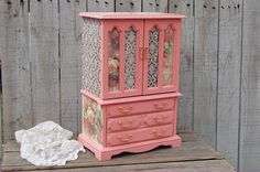 Coral jewelry armoire