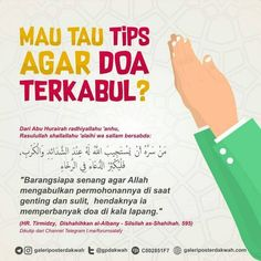 Tips Agar Doa Terkabul - Galeri Poster Dakwah Pray Quotes, Quran Quotes Inspirational, Words Quotes, Life Quotes, Hijrah Islam, Doa Islam, Reminder Quotes, Self Reminder, Muslim Quotes