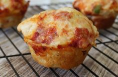 Perfect for School Lunches | Pepperoni Pizza Muffins